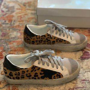 Shein Leopard Star Sneakers